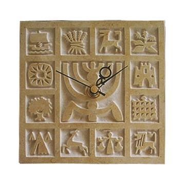 """תמונה של שעון מאבן ירושלמית """"שבטי ישראל"""" - קיסריה ארט"""