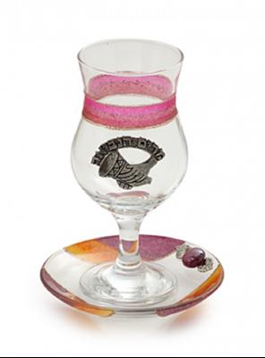 תמונה של כוס מרים ותחתית מזכוכית (אדום) - לילי אומנות