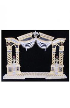 """תמונה של סט תיקים לטלית ותפילין """"שער וילנא"""" (זהב וכסף)"""