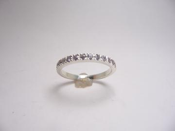 תמונה של טבעת כסף שורה קלאסית