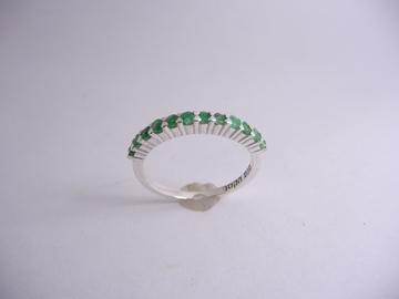 תמונה של טבעת כסף מניפה רובי\אמרלד